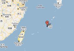 Okinawa - among China, Taiwan and Japan