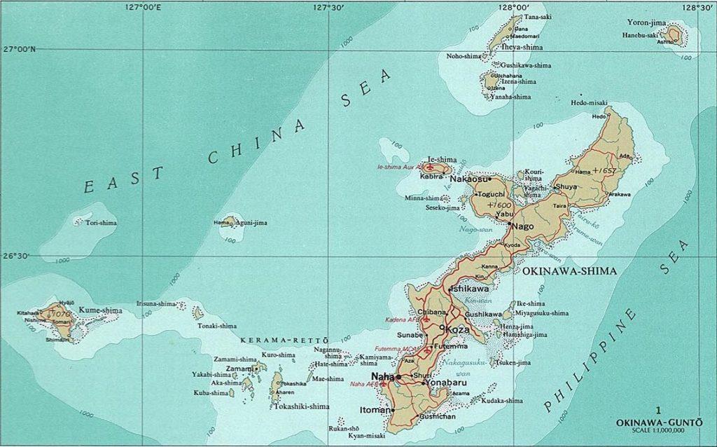 Okinawa Island map